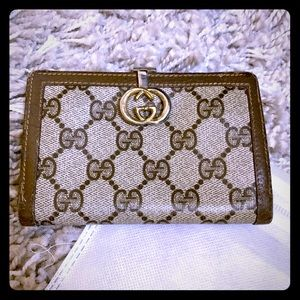 Vintage Gucci GG wallet brown classic